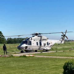 Duikslachtoffer wordt door helikopter naar Delta Medicine gebracht